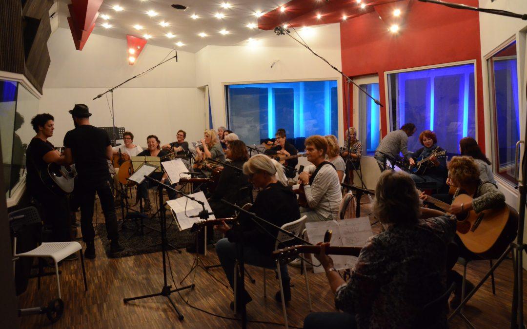 Gitaarclub Leyenda neemt album op bij LEF studios